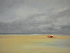 Anne Packard_red boat_abstract art_contemporary art_modern art_paintings for sale_oil painting_framed art_paintings_art_metropolitan museum_poster_wall decor_wall art_Bay Head