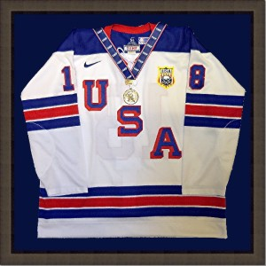 Hockey_ USA_​plexiboxes_shadowboxes_memorabilia framing_medals_sports jerseys_​document framing_archival_framing_