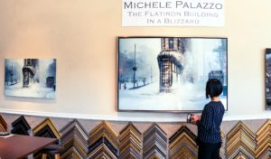 Flatiron building in a blizzard_40 inches x 60 inches_24 inches x 36 inches_limited edition print for sale_Westwood Gallery