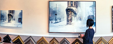 "Westwood Gallery Presents the World Premier of the Fine Art Photo ""The Flatiron Building in a Blizzard"""